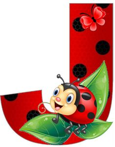 Ladybug Art, Ladybug Crafts, Alphabet, Crochet Collar Pattern, Special Letters, School Posters, Painting For Kids, Pictures To Draw, Letters And Numbers