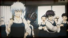 Gintama - Sakata Gintoki, Takasugi Shinsuke - Epsiode 307 Anime One, Me Me Me Anime, Manga Art, Manga Anime, Gintama Funny, Gintama Wallpaper, Silver Samurai, Comedy Anime, Anime Characters