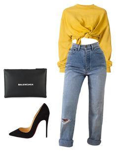 """""""BAD!"""" by stephcoco ❤ liked on Polyvore featuring Ottolinger, Balenciaga and Christian Louboutin"""