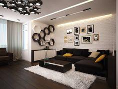Busca imágenes de Salones de estilo minimalista de Polovets & Tymoshenko design studio. Encuentra las mejores fotos para inspirarte y crea tu hogar perfecto.