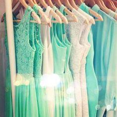 Tiffany Blue dresses <3