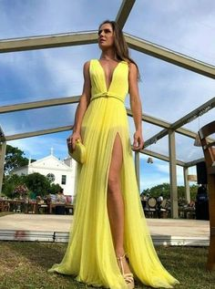 78fe74ddb Dress Long Yellow Beautiful 70+ New Ideas