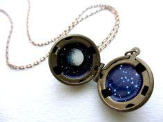 Sagittarius Locket  Personalized Jewelry  by kharaledonne on Etsy, $40.00