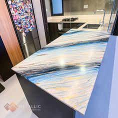 Kitchen countertops are only one of the many decisions you'll have to make when designing your kitchen. Look at this achievable designer countertop at North Park Residences. Epoxy Countertop, Kitchen Countertops, Epoxy Coating, Design Your Kitchen, Metallic, Design Ideas, Flooring, Park, Interior