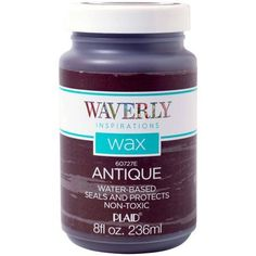 Waverly   Inspirations Antique Wax Sealer and Protectant by Plaid, 8 oz.