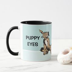 Those Puppy Eyes Combo Mug. The outside of the mug features the original design by Squiglet while the rim & handle are vividly glazed in rich color. Give this fun gift to a friend, or add some zest to your dinnerware collection. Fluffy Puppies, Cute Puppies, Cute Little Dogs, Fluffy Coat, Puppy Eyes, Day Up, Animals Images, Colorful Drawings, Photo Mugs