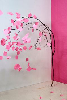 Tree, from Dolldrums by Florian Hildebrant Arts And Crafts, Paper Crafts, Diy Crafts, Performance Artistique, Post It Art, Grand Art, Beautiful Dream, Fake Flowers, Art Plastique