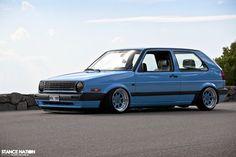 VW Golf mk2 low static