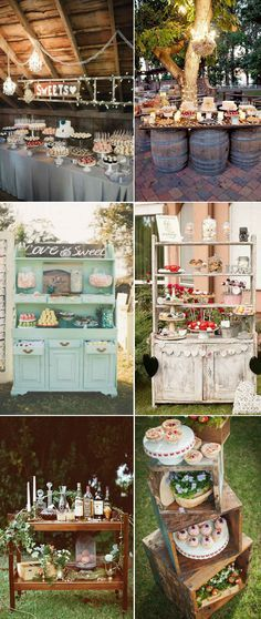 creative rustic wedding bar ideas