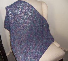 Ravelry: Wrynnes Karen Klemps Mitered Shawl with Brooks Farm yarn