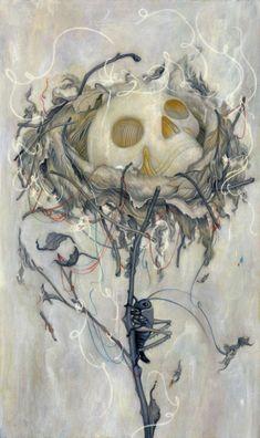"Skulls:  #Skull ~ ""Nest,"" by James Jean."