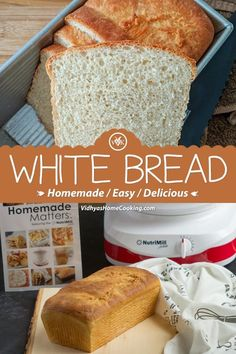 Now making a toast or sandwich or bread pizza with fresh bread is so easy. Here is the recipe for soft, simple and fresh classic homemade white bread with bread flour. Vegetarian Appetizers, Easy Appetizer Recipes, Vegetarian Recipes Dinner, Delicious Vegan Recipes, Vegetarian Food, Dinner Recipes, Best Bread Recipe, Easy Bread Recipes