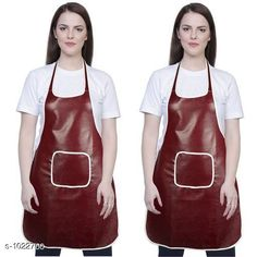 Aprons Classic Aprons ( Pack Of 2)  *Material * Apron - PVC  *Size (L x W)* Apron - 18  in x 28 in  *Description* It Has 2 Piece Of Kitchen Apron  *Pattern* Solid  *Sizes Available* Free Size *   Catalog Rating: ★4.2 (287)  Catalog Name: Hiba Lovely Aprons Combo Vol 1 CatalogID_123448 C129-SC1633 Code: 142-1022760-