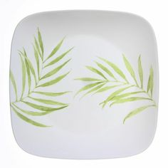 """Corelle® Square™ Bamboo Leaf 10.25"""" Dinner Plate - World Kitchen Will probably need to order more eventually"""