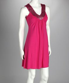 Take a look at this Passion Pink Sequin Dresss by Peppermint Bay on #zulily today!