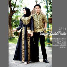 Batik Couple Gamis Batik Prodo 2521 Hitam