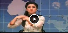 Pakistani News Caster doing Weird Things - Social Dunya News