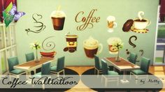 Sims 4 CC's - The Best: Coffee Wall Tattoos by Melly