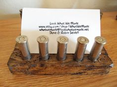 Cool Bullet Business Card Holder (Great Fathers Day gift)!