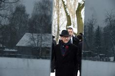 Director Steven Spielberg attends the unveiling of a plaque at the former Auschwitz concentration camp at the camp's memorial site in Oswiecim, Poland on Jan. 27, 2015.