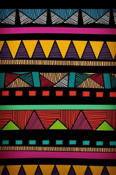 Colourful tribal aztec