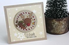 Winter Wishes Card by Heather Nichols for Papertrey Ink (November 2014)