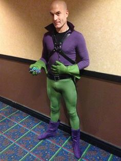 Evil never looked so damned good! Lex Luthor, convention, lycra, hot men, bald, cosplay