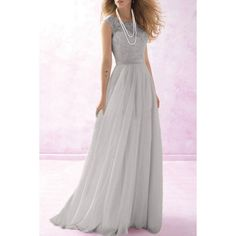 Stunning Round Neck Sleeveless Solid Color Women's Maxi Dress