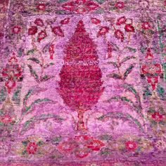 Over dyed silk rug