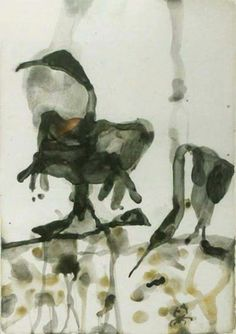 John Olsen Wading Birds 1978 Watercolour on paper 67 x 97cm $38,000  Anthea Polson Art 07 5561 1166