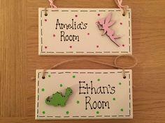 Personalised Children's Bedroom Door Wooden Sign/Plaque Boy Girl Fairy Dinosaur