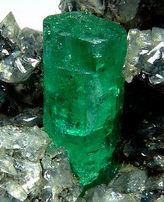 Emerald and calcite