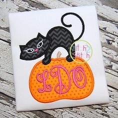 Cat Pumpkin Applique - 3 Sizes! | What's New | Machine Embroidery Designs | SWAKembroidery.com The Itch 2 Stitch