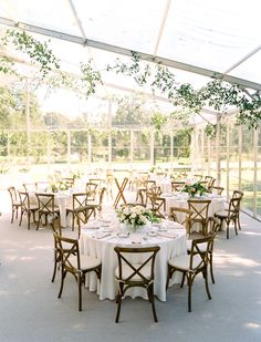 wedding reception Classic American-Mexican Affair with To-Die-For Bridal Portraits Wedding Reception Chairs, Wedding Table Linens, Reception Seating, Tent Wedding, Garden Wedding, Wedding Venues, Luxury Wedding, White Wedding Linens, Round Wedding Tables