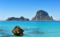 Stunning view from Cala d'Hort beach...