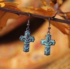 Southern Fashion House - Anna Jo Relic Royal Cross Earrings, $15.00 (http://www.southern-fashion-house.mybigcommerce.com/anna-jo-relic-royal-cross-earrings/)