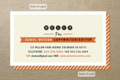Friendly Type Business Cards by Jana Volfova at minted.com