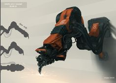 Robotic Arm by Sergey-Lesiuk.deviantart.com on @deviantART