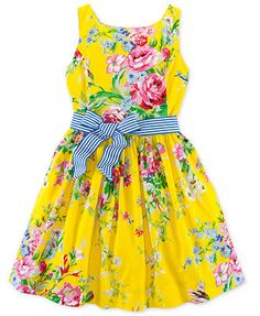 Ralph Lauren Girls' Floral Sateen Dress @Macy's for Sofi = EASTER