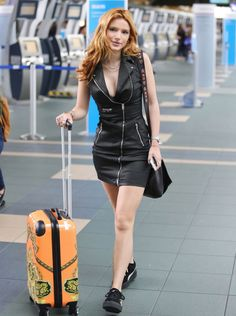 Bella Thorne at Vancouver Airport