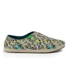 Look what I found on #zulily! Teal Runaround Kaleidoscope Sidewalk Surfers Slip-On Shoe - Women #zulilyfinds
