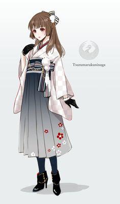 埋め込み画像 I like her dress! Anime Kimono, Anime Dress, Female Character Design, Character Design Inspiration, Kawaii Anime Girl, Anime Art Girl, Yukata, Anime Outfits, Cool Outfits