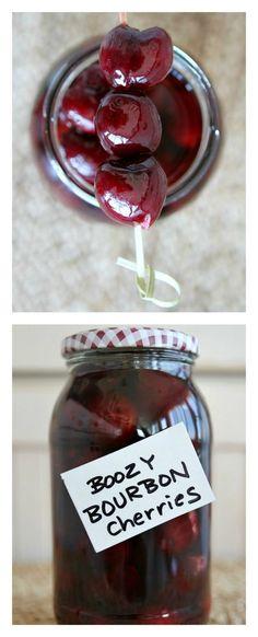 Easy Boozy Bourbon Cherries Recipe