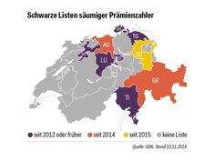 """Mehr als 100'000 Personen in der Schweiz wollen ihre Krankenkassen Prämien nicht bezahlen, landesweit sind über 236 Millionen Franken offen. Einige Kantone haben deswegen sogenannte """"Schwarze Listen"""" eingeführt.  Erfahre hier im Bericht mehr: http://www.krankenkasse-wechsel.ch/mehr-als-100000-schweizer-bezahlen-pramien-nicht/"""