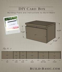 Wedding Gifts Diy DIY Card Box by Build Basic - Project Opener - Drawing Wooden Card Box Wedding, Wood Card Box, Diy Card Box, Gift Card Boxes, Wedding Boxes, Diy Box, Diy Cards, Wedding Cards, Card Box For Wedding