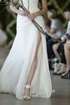 38 Striking Wedding Dresses with Slit--love a bunch of these