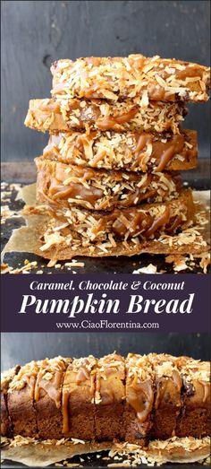 Best Pumpkin Bread Recipe with Chocolate & Caramel   CiaoFlorentina.com @CiaoFlorentina