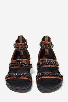Aida Pony Hair Sandal