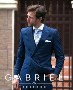 Gabriel Bespoke Double Breasted Pinstripe Suit! www.gabrielbespoke.com Double Breasted Pinstripe Suit, Blue Pinstripe Suit, Black Leather Dresses, Black Dress Shoes, Mens Fashion Wear, Suit Fashion, Bespoke Tailoring, Tailored Suits, My Style
