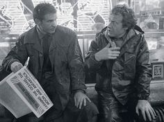 FUTURE NOIR - Harrison and Ridley on the set of Blade Runner